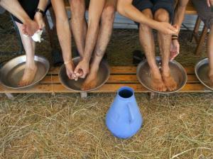 Pausa na peregrinação a pé a Fátima (Lusa-Paulo Cunha)
