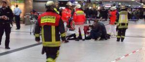Estação de comboios foi encerrada pelas autoridades.