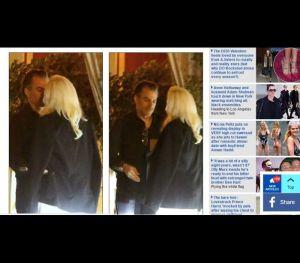 O casal foi fotografado esta segunda-feira, dia 6.