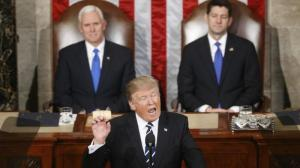O primeiro discurso de Donald Trump no Congresso