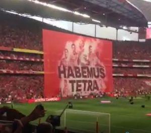 Benfica assinalou, desta maneira, o inédito tetracampeonato.