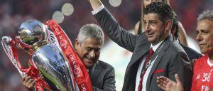 Presidente do Benfica foi ao balneário dar uma palavra aos jogadores e falou aos adeptos presentes no Marquês de Pombal.