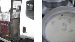 Na fiscalização foi apreendido leite e água oxigenada.