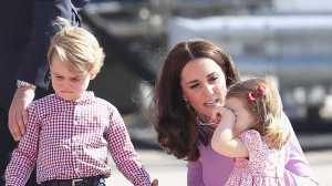 Depois do beicinho de George, foi a vez da irmã mostrar o mau feitio real.