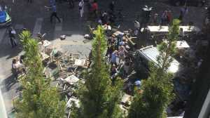 As autoridades adiantam que há vários mortos e feridos. Acidente será um ataque terrorista.